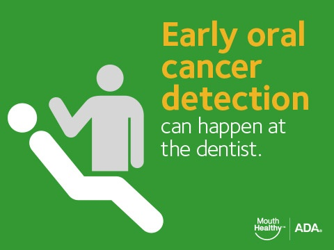 Early oral cancer detection can happen at the dentist.