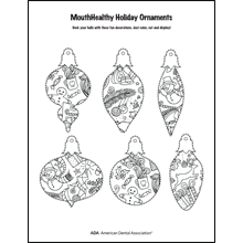 Decorate a tooth-themed ornament activity sheet 1