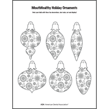 Decorate a tooth-themed ornament activity sheet 2