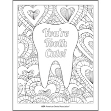 You're Tooth Cute Coloring Sheet